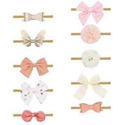 10 Pack Hair Accessories For Newborn Infant Toddler Gift Bab