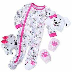 101 Dalmatians Puppy Dog 4 Piece Gift Set for Baby - Girl's