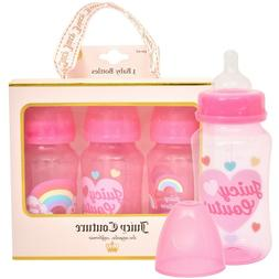 Juicy Couture 11oz Baby Bottle, 3 Pack Set in Gift Package-