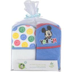 2-PACK Disney Baby Icon Mickey Mouse Baby Bath Hooded Towels
