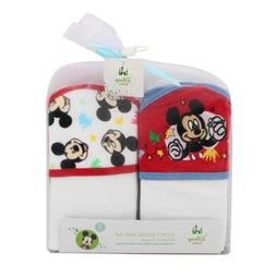 2-PACK Disney Baby Mickey Mouse Baby Bath Hooded Towels Gift