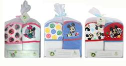 2-PACK Disney Mickey & Minnie Mouse Baby Bath Terry Hooded T