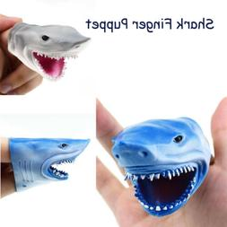 3.3in Funny Shark Finger Puppet Baby Infant Kid Toys Silica
