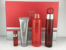 360 RED by Perry Ellis Men COLOGNE GIFT SET 3.4 OZ+  B/S 6.8