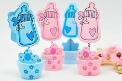 6 Baby Shower Decorations Bottles Favors Card Holders Gifts