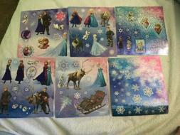 6 Sheets Disney Princess Frozen Elsa Anna Olaf Stickers Favo