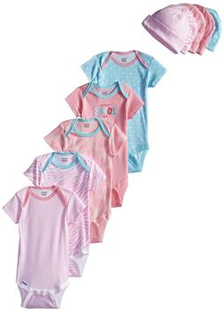 Gerber Baby-Girls 10-Piece Newborn Love Onesies and Cap Bund