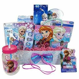 Gift Basket Idea with 10 Frozen Themed Items for Girls