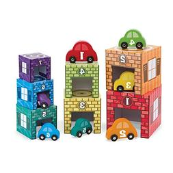 Melissa & Doug Nesting and Sorting Garages and Cars With 7 G