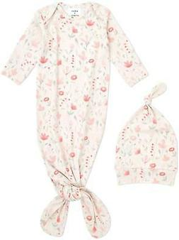 Aden + Anais COMFORT KNIT KNOTTED GOWN + HAT GIFT SET - PERE