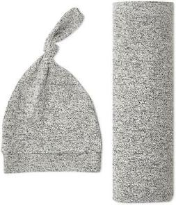 Aden + Anais Snuggle Knit Swaddle Gift Set Heather Grey