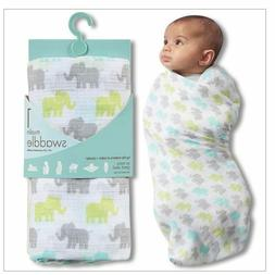 Aden & Anais Muslin Swaddle Blanket NWT Elephant Motif  Baby