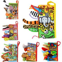 Animal Tails Cloth Book Baby Toy Cloth Development Books Lea