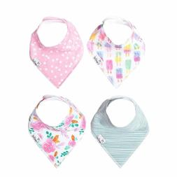 Baby Bandana Drool Bibs for Drooling and Teething 4 Pack Gif