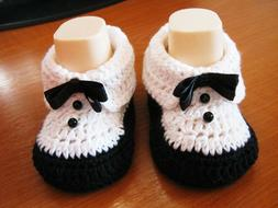 "Baby boots ""Tuxedo"", Baby boy shoes, Baby shower gift, Handm"