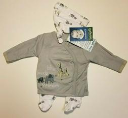 Gerber Baby Boy 3-Piece Organic Cotton Gray Take Me Home Lay