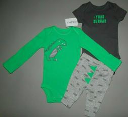 Baby boy clothes, 12 months, Carter's 3 piece set/ SEE DETAI