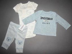 Baby boy clothes, Preemie, Carter's Little Baby Basics 3 pie
