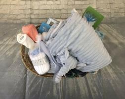 Baby Boy Gift Basket 0-6 Months Perfect Shower Gift Animal T
