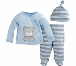 GERBER BABY BOY Newborn Take-Me-Home 3-Piece Layette Gift Se