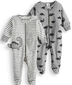 GERBER BABY BOY'S 2-Piece Sleep 'N Plays Zippered Baby Showe