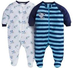 GERBER BABY BOYS 2-Piece Sleep 'N Plays Zippered Baby Shower