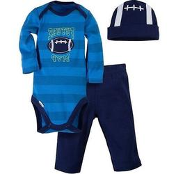 GERBER BABY BOYS 3-Piece Essentials Set Onesie, Pants & Cap