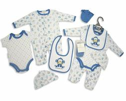 Nursery Time Baby Clothes Gift Set for Boys 100% Cotton with