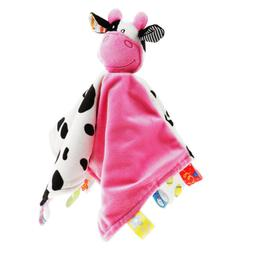 Baby Comfort Blanket Tags Security Comforter for Boys Girls