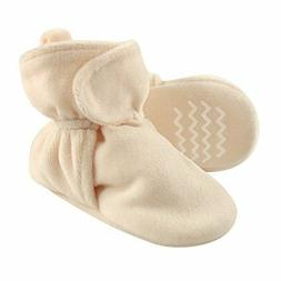 Hudson Baby Baby Cozy Velour Booties with Non Skid Bottom, C
