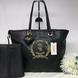 Juicy Couture Baby Diaper Bag Black With Changing Pad Floral