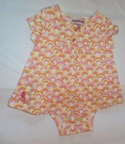 JUICY COUTURE BABY GIRL 0-3 RAINBOW DRESS ROMPER OUTFIT SPRI