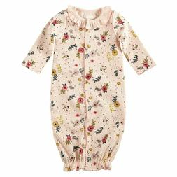 Mud Pie Baby Girl Blush Floral Print Convertible One Piece G