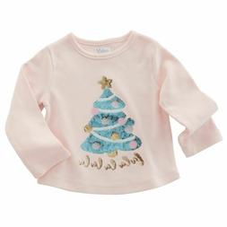 Mud Pie Baby Girl Christmas Tree Sequin Shirt Size Sm  NEW