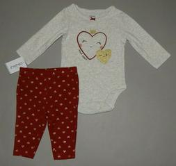 Baby girl clothes, 18 months, Carter's 2 piece set/  SEE DET