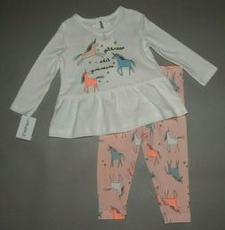 Baby girl clothes, 18 months, Carter's 2 piece set/SEE DETAI