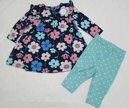 Baby girl clothes, 18 months, Carter's 2 piece set/new with