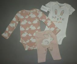 Baby girl clothes, Preemie, Carter's Little Baby Basics 3 pi