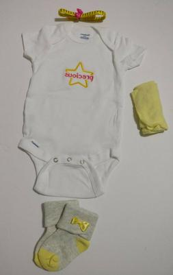 Baby girl clothing 4 piece items lot 3-6 months baby shower