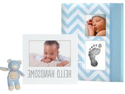 Baby Girl Memory Book Footprint Touch Pad + Picture frame +