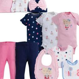 Gerber Baby Girls 11 Piece Layette Set Size 3-9 Months Adora