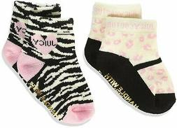 Juicy Couture Baby Girls' 2 Pieces Gift Box Set-Socks-Zebra