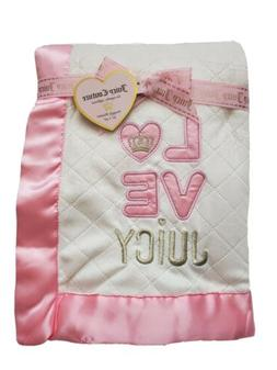 Juicy Couture Baby Girls Plush Blanket, 30 X 40, Love, Showe