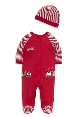 baby holiday cotton footie train gift 3