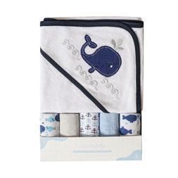 Softan Baby Hooded Bath Towel and Washcloths 6 Pack Gift for