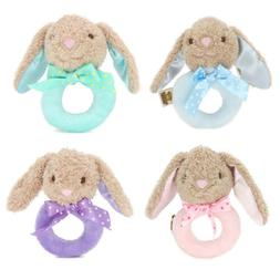 Baby Infant Rabbit Plush Rattle Ring Bell Toddler Musical So