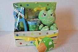 Neil Nathan Baby Keepsake Gift for Infant Boy with Plush Fro