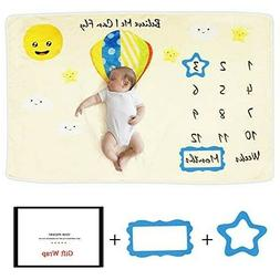 Baby Monthly Milestone Blanket Photography Bed Mat for Boys