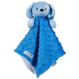 Baby Security Blanket Blue Puppy Dog Plush Toy Gift, Boys, S