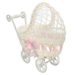 Baby Shower Carriage Wicker Table Centerpiece Favors Girl Gi